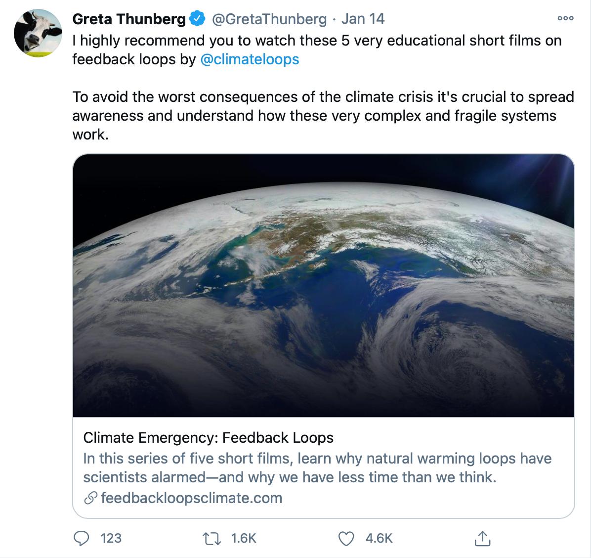 Greta Thunberg Tweet